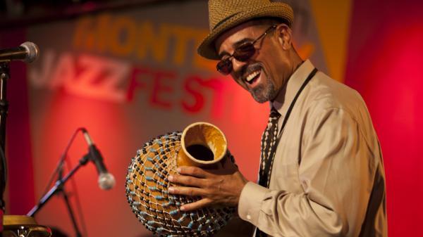 John Santos leads his sextet on Friday night of the 2011 Monterey Jazz Festival.