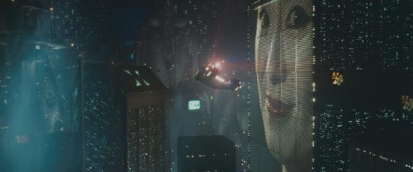 <strong>The classic future:</strong> Ridley Scott's  <em>Blade Runner,</em> released in 1982, envisioned a cityscape with buildings wrapped in video displays — well before New York's Times Square went digital.