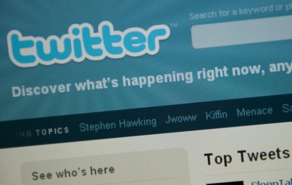 Twitter's homepage.