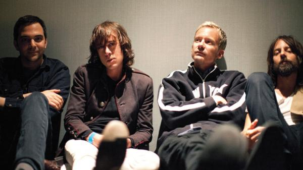 Fountains of Wayne's new album is <em>Sky Full of Holes</em>. Left to right: Adam Schlesinger, Jody Porter, Chris Collingwood, Brian Young.
