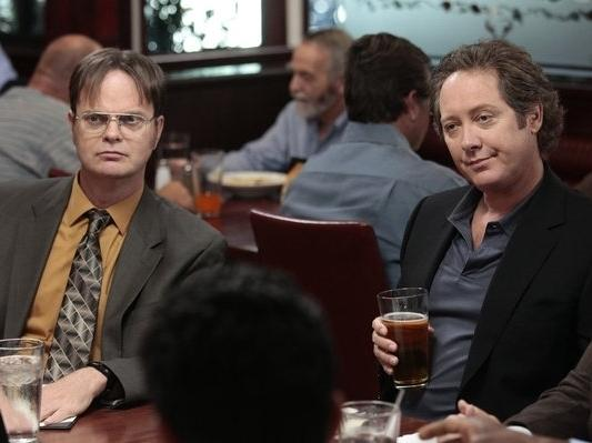 James Spader (right) officially joins the cast of NBC's <em>The Office </em>after guest starring in last season's finale.