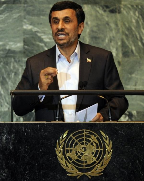 Iranian President Mahmoud Ahmadinejad at the U.N. last week.