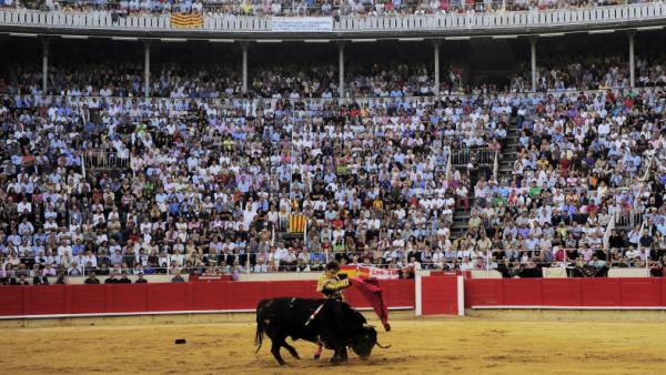 Spanish matador Jose Tomas performs at the Monumental bullring in Barcelona, Spain, in the final bullfight to be held in the Spanish region of Catalonia,  Sept. 25. Lawmakers in the region voted to ban the practice last year.