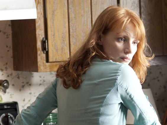 Jessica Chastain plays the protagonist's increasingly frustrated wife, who can't see — and can't comprehend — the visions that terrify her husband.
