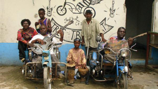 The Congolese street band Staff Benda Billi were discovered playing outside a zoo by a group of French filmmakers.