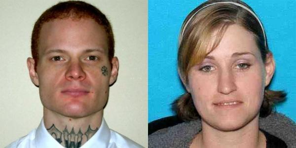 David Joseph Pederson and Holly Ann Grigsby were captured Wednesday afternoon during a traffic stop near Sacramento, California. Photo courtesy Oregon State Police