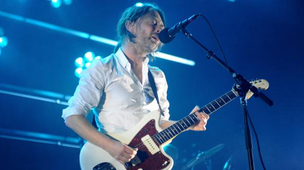 <p>Thom Yorke at Radiohead's Sept. 28 concert at Roseland Ballroom in New York.</p>