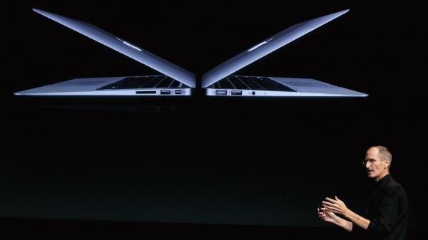 <p>Steve Jobs introduces new MacBook Air models at Apple headquarters on Oct. 20, 2010. Some say one of his greatest legacies is his impact on design. </p>