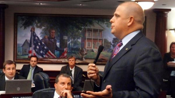 <p>State Rep. Ritch Workman, seen here speaking in 2010, has filed a bill to make dwarf tossing legal once again in Florida.</p>