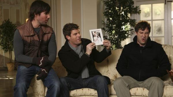 <p>From left to right: John Lajoie, Stephan Rannazzisi and Mark Duplass, from the first season of 'The League'. The new season airs Thursday, Oct. 6 on FX.</p>