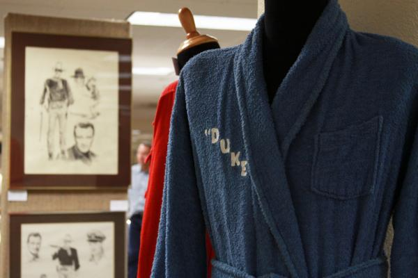 <p>John Wayne's family auctioned off his bathrobes.</p>