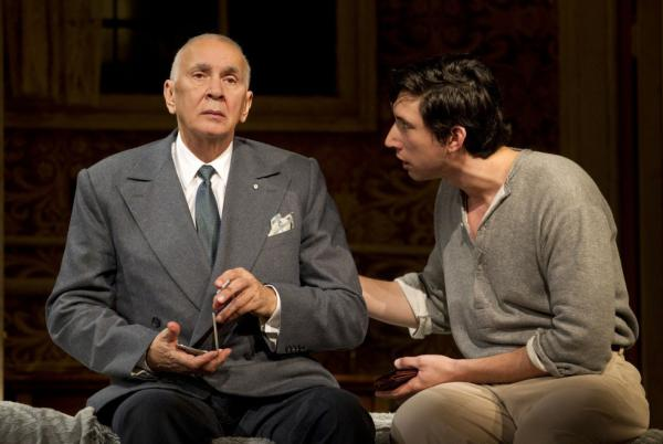 <p><strong>'Man' Of Some Importance:</strong> Actor Frank Langella (left, with Adam Driver) anchors the Roundabout Theatre Company's <em>Man and Boy,</em> about a highflying financier whose empire hangs by a thread.</p>