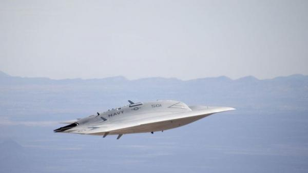 <p>This was the first gear-up flight for the X47B. </p>