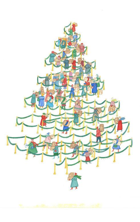 "<p>This work, called ""The Christmas Tree Line,"" is one of Johnson's famous pieces that ran in The New Yorker in 1985 well before she got ill. It has layers of meaning if you look at it closely, says Barbara Landau, a professor of cognitive science at Johns Hopkins University. She says it's ""very, very clever and beautiful.""</p>"