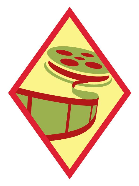 "<p>The ""Digital Movie Maker"" badge.</p>"