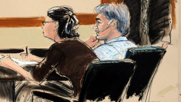 <p>In this courtroom sketch, defendant Manssor Arbabsiar and defense attorney Sabrina Shroff, appear in court in New York on Tuesday. Arbabsiar has been charged in an alleged plot to assassinate Saudi Arabia's ambassador to the U.S.</p>