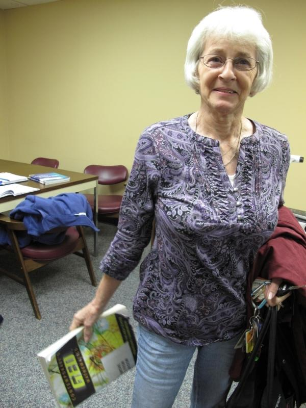 <p>Rosa Sherbert, 68, worked in textiles for about 30 years. Now she's studying to take the GED exam.</p>