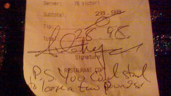 <p>The receipt that started it all. </p>