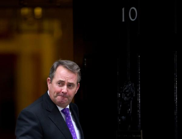 <p>This file picture taken on October 18, 2010, shows British Defense Secretary, Liam Fox, leaving after attending a cabinet meeting at 10 Downing Street.</p>