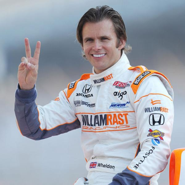 <p>Dan Wheldon of England after winning his send Indianapolis 500 last May. </p>
