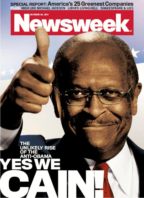"<p> ""Herman Cain is surprising everybody,"" says <em>Newsweek </em>editor Tina Brown. He's featured on the Oct. 24 issue of the magazine.</p>"