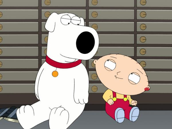 <p>Seth MacFarlane voices several characters on <em>Family Guy</em>, including Brian (left) and Stewie (right) Griffin.</p>