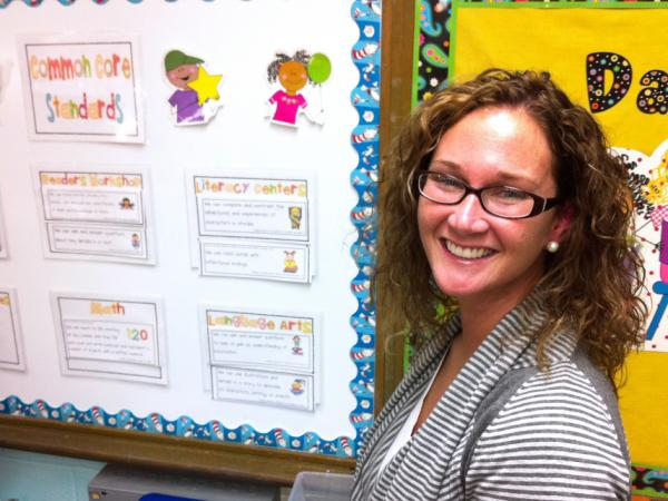 <p>Janna Beth Hunt, a first-grade teacher at Nashville's Norman Binkley Elementary, is disappointed with how she scored on her first observation under the new system.</p>