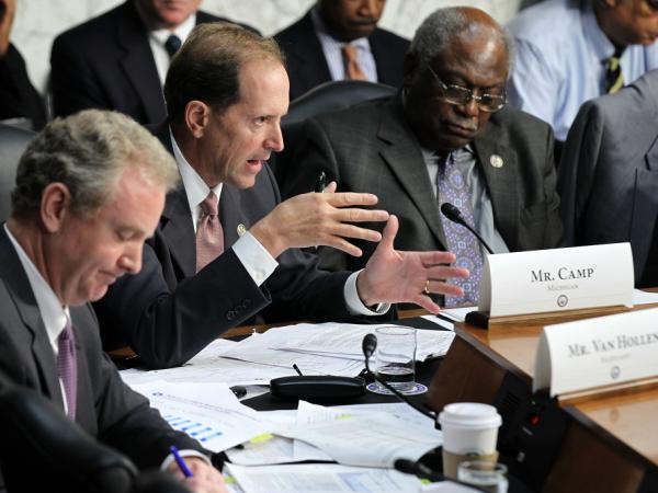 <p> U.S. Rep. Dave Camp, R-Mich., speaks during a hearing before the Joint Deficit Reduction Committee in September. Since the supercommittee's formation in August, the House and Senate appropriations committees have seen their powers diminish.</p>