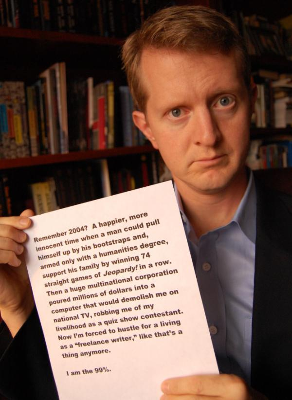 <p>Former Jeopardy champ Ken Jennings.</p>