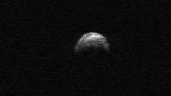 <p>This radar image of asteroid 2005 YU55 was generated from data taken in April of 2010 by the Arecibo Radar Telescope in Puerto Rico. </p>