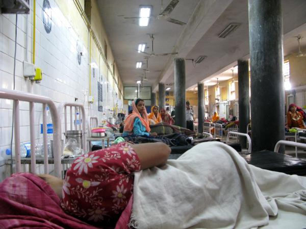 <p>The maternity ward at Swami Dayanand hospital in northeast Delhi, the most densely populated district in India. U.N. demographers say the world's 7 billionth citizen could be born in India on Oct. 31.</p>