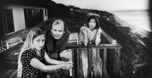 <p>Quintana Roo Dunne takes in the ocean view with her parents, John Gregory Dunne and Joan Didion in Malibu in 1976. Quintana Roo fell ill in 2003, and her father had a fatal heart attack several days later. <em>Blue Nights </em>is Didion's elegy for her daughter who died in 2005 at age 39.</p>