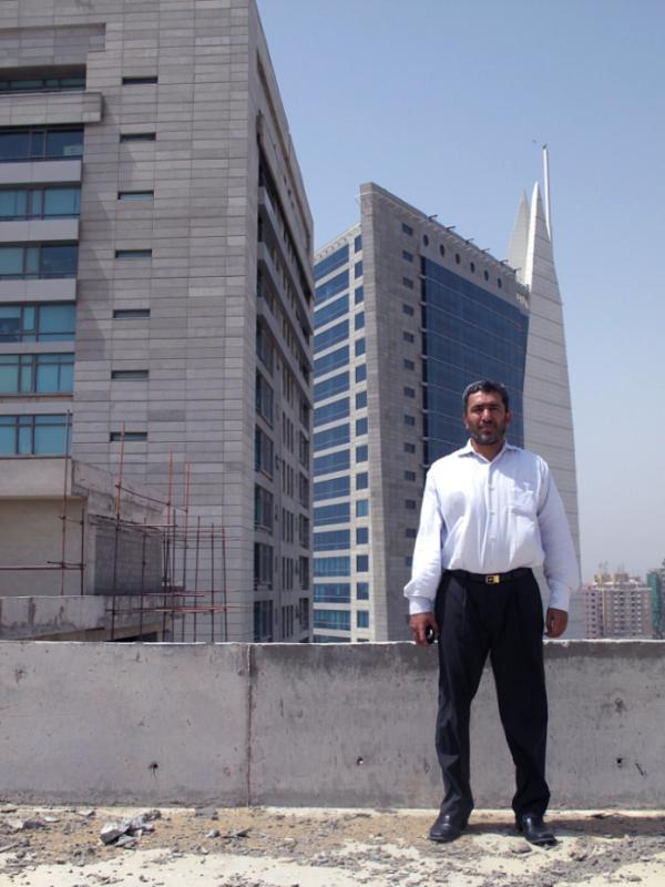 <p>Jabir Hussain Dada is the sales manager of a new office tower and mall being built where a casino once stood in Karachi.</p>
