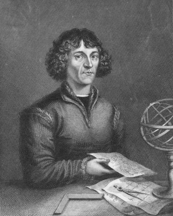 Nicolaus Copernicus made the astounding claim that Earth revolves around the sun, not the other way around. He's seen here circa 1515.