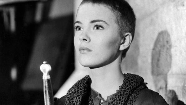Actress Jean Seberg plays Joan of Arc in the 1957 Otto Preminger film <em>Saint Joan</em>.