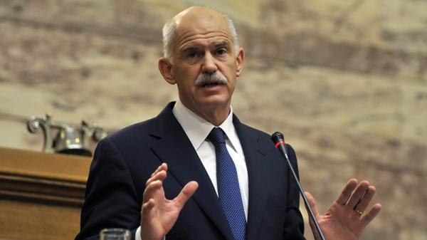Greek Prime Minister George Papandreou, shown speaking at the parliament in Athens on Friday, is facing a no-confidence vote.