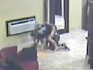 MMA fighter subdue robber.