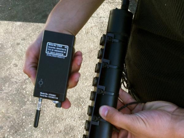 The Supreme Court heard arguments in a case about whether GPS monitoring devices like this one may be affixed to suspects' cars without a warrant from a judge.