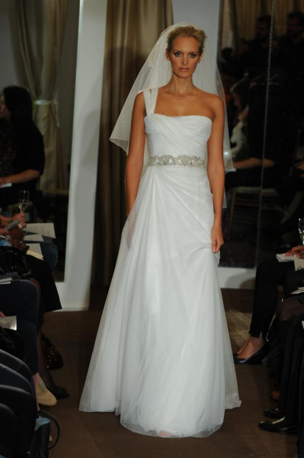 A bridal gown by Kevan Hall.