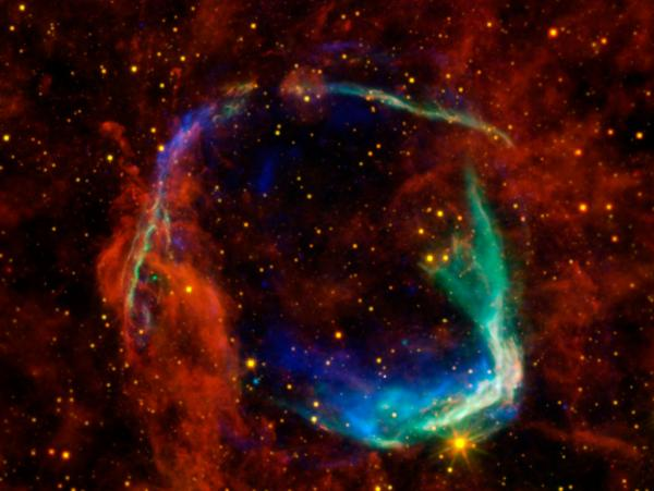 Astrophysicist Saul Perlmutter analyzed the brightness coming from supernovas, like the one pictured above, to measure how fast the universe is expanding.