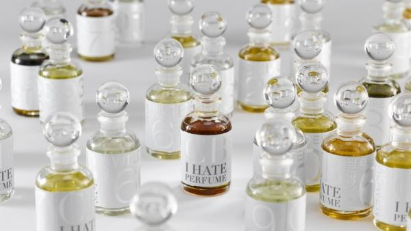 "<strong>A Labor of Love:</strong> For his ""I Hate Perfume"" collection, Christopher Brosius blends and bottles all of his scents by hand in his workshops. The process may be labor-intensive, but it allows him to create singular scents that can't be mass-produced."