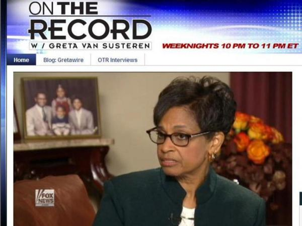 Gloria Cain, on Fox News Channel's <em>On the Record with Greta Van Susteren</em>.
