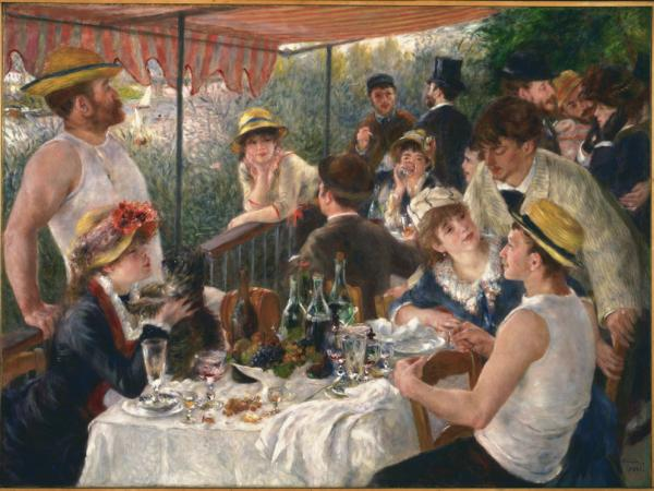 """Luncheon of the Boating Party"" painted in 1881 by Pierre-Auguste Renoir"
