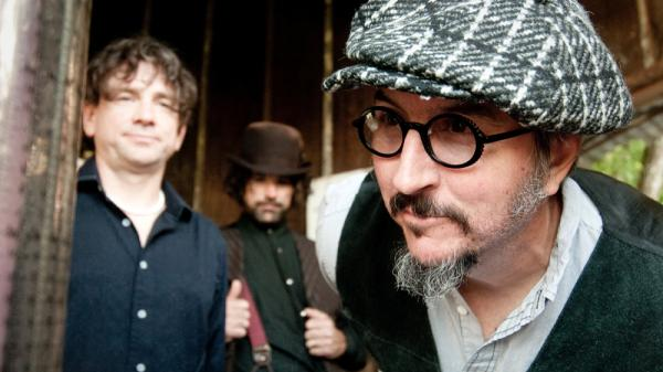 Les Claypool (far right) has had plenty of extracurricular pursuits since the last Primus album. <em>Green Naugahyde</em> is the band's first long-player in over a decade.