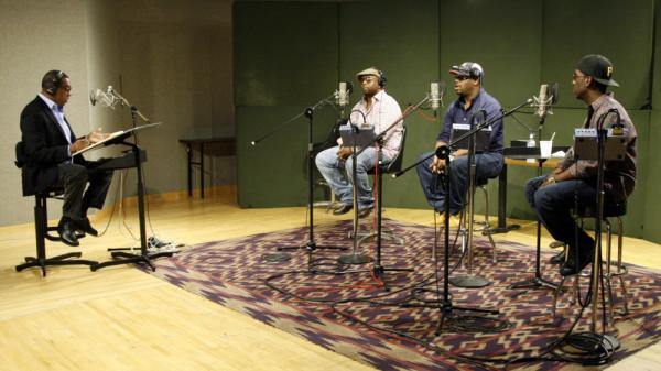 Boyz II Men joins <em>Tell Me More </em>guest host Tony Cox for a performance chat at NPR headquarters in Washington, D.C.