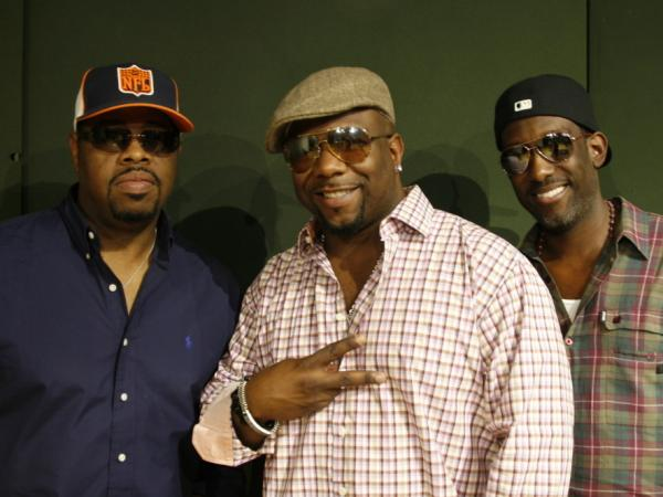 Nathan Morris (left), Wanya Morris (center) and Shawn Stockman (right) are Boyz II Men.