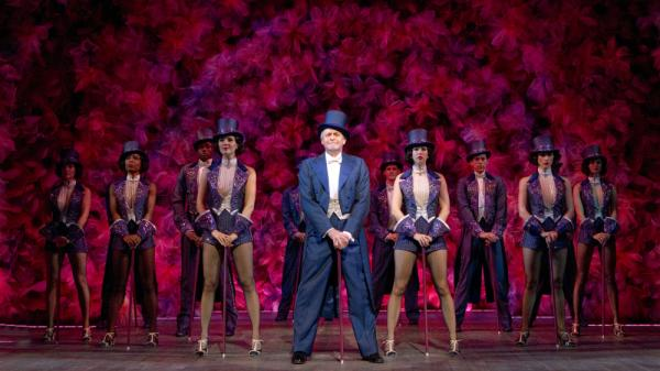 Ron Raines (Benjamin Stone) and Company perform in the recent production of Stephen Sondheim's <em>Follies</em>.