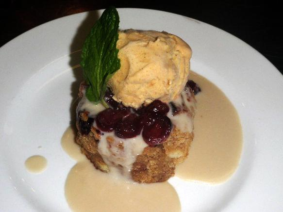 One of B. Smith's signature treats is this Bourbon Street Bread Pudding.