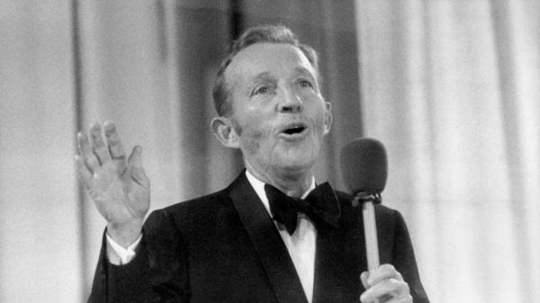 Christmas music superstar Bing Crosby performing in 1977, back when the season, at least on the radio, started after Thanksgiving.