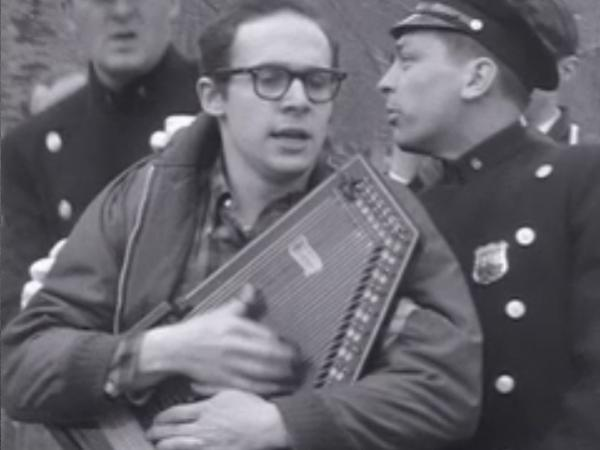 Dan Drasin's 1961 film, <em>Sunday,</em> captured the April 9, 1961, conflict between New York City folk musicians and police that came to be known as the Beatnik Riot.